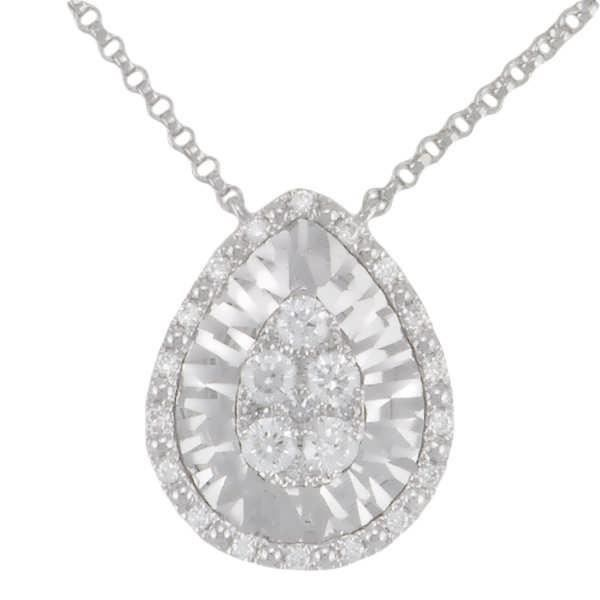 Collier Diamant Or:4.00 Gr Diamant:0.36 Ct