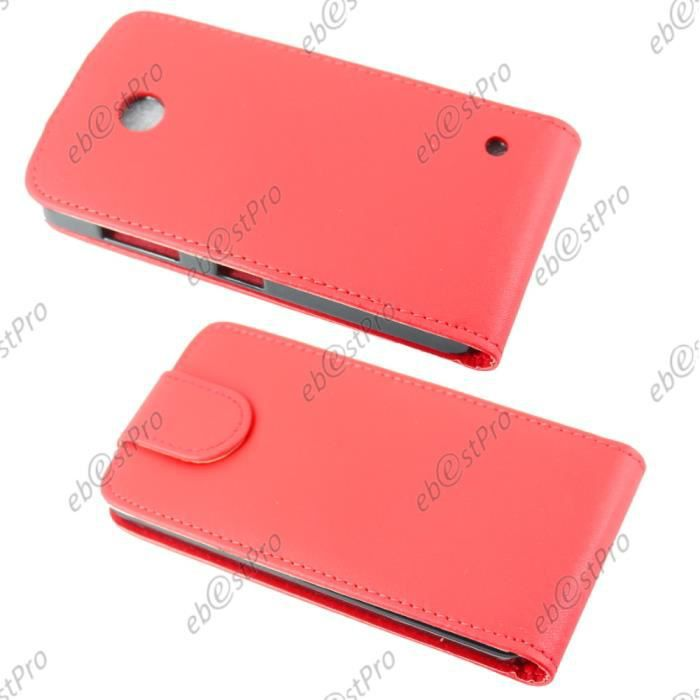 Ebeststar film housse clapet rouge nokia lumia 630 635 for Housse nokia 6
