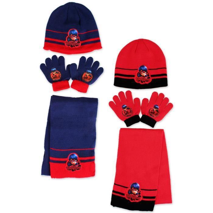 ECHARPE - FOULARD Ensemble bonnet, echarpe, gants MIRACULOUS LADYBUG