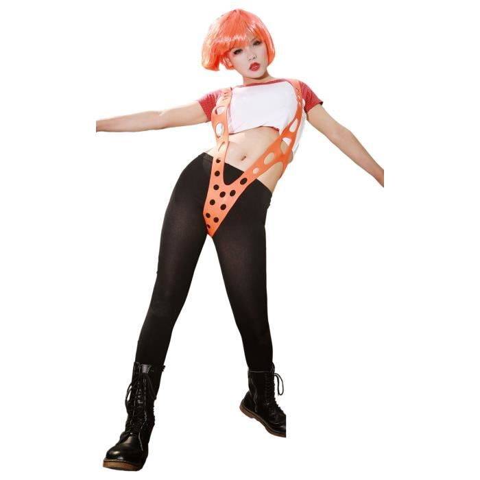 leeloo orange silicium suspendre the fifth element costume cosplay accessoires achat vente. Black Bedroom Furniture Sets. Home Design Ideas