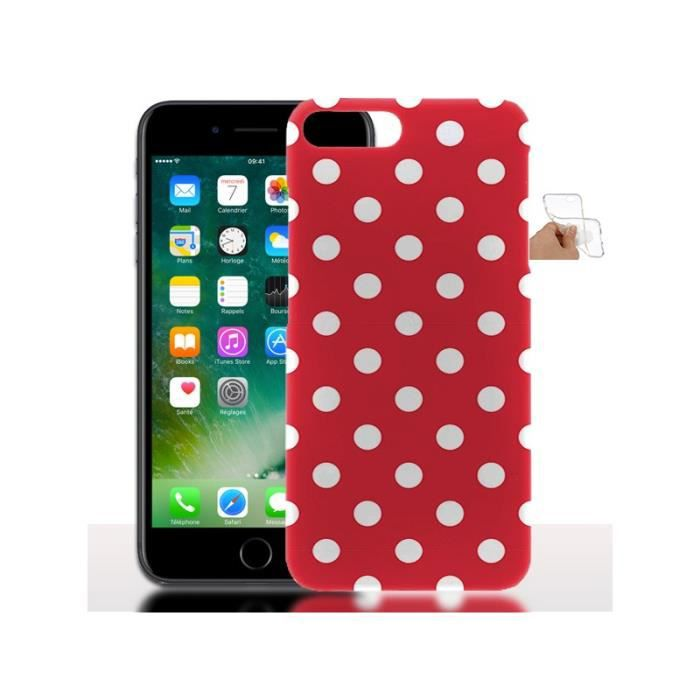 iphone 7 plus coque silicone rouge