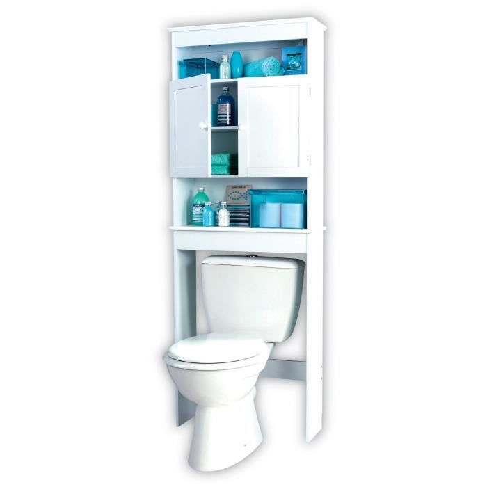 meuble wc blanc achat vente colonne armoire wc meuble wc blanc cdiscount. Black Bedroom Furniture Sets. Home Design Ideas