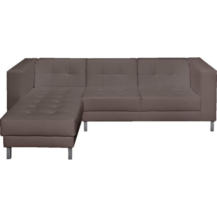 canap d 39 angle gauche switsofa manfield taupe achat vente canap sofa divan cdiscount. Black Bedroom Furniture Sets. Home Design Ideas
