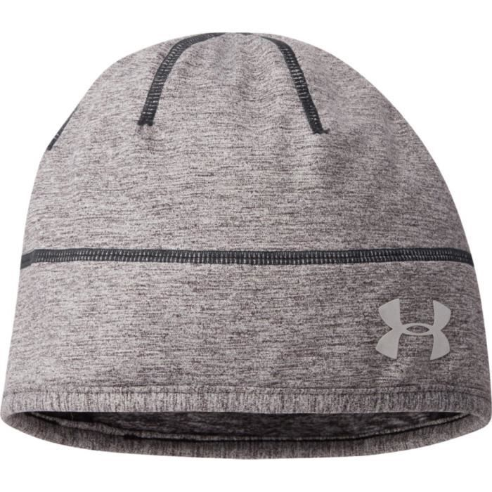 Bonnet Under Armour Run Reflective Beanie - Taille unique Noir ... 14f29399156