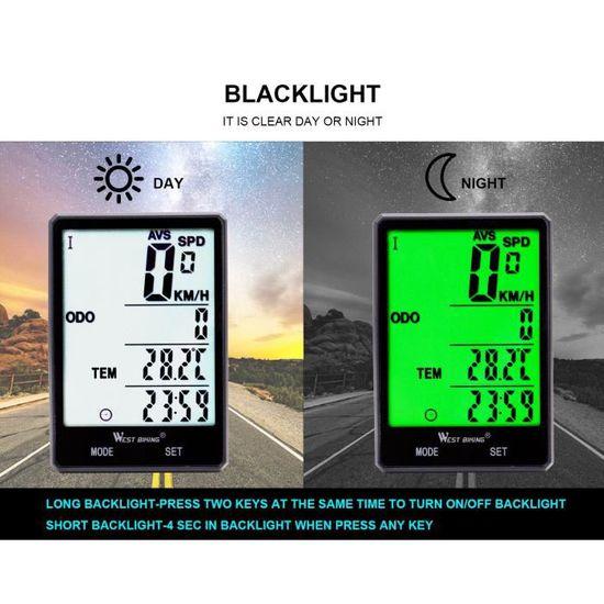 Bikehut 9 Fonction Cycle Ordinateur Compteur De Vitesse Distance Riding Horloge Temps Libre PP