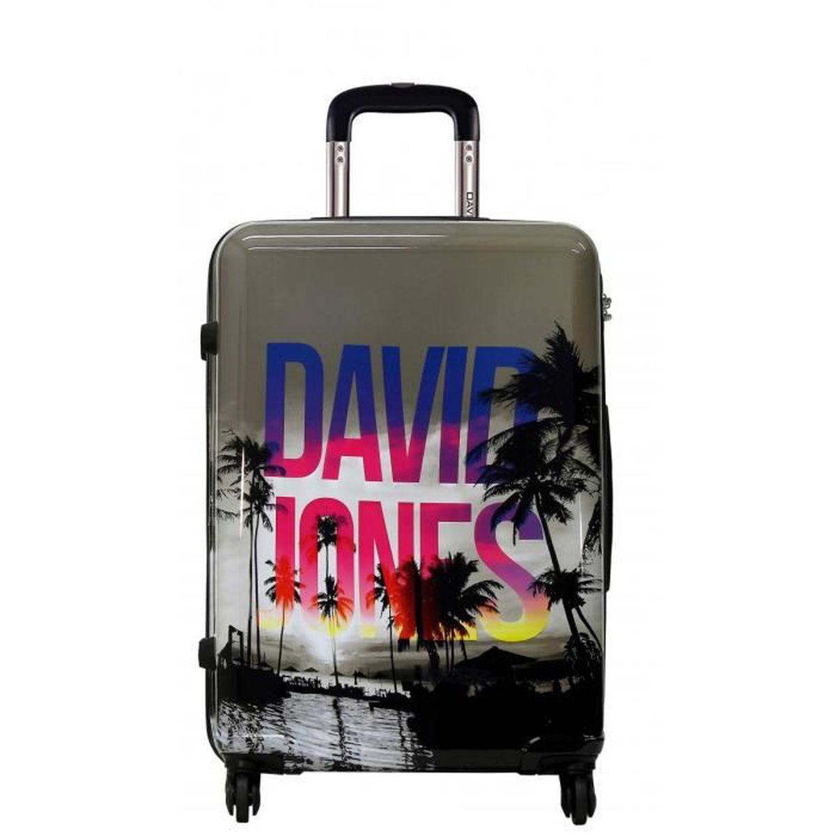 valise cabine ryanair david jones palmiers ba20581p gris achat vente valise bagage. Black Bedroom Furniture Sets. Home Design Ideas