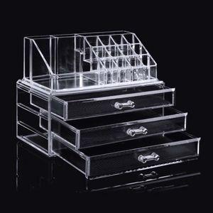 BOITE DE RANGEMENT Boîte de rangement maquillage cosmétiques 3 tiroir