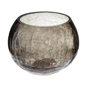 PHOTOPHORE - LANTERNE Atmosphera - Photophore en verre craquelé H10 cm C