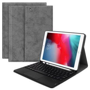 CLAVIER D'ORDINATEUR Touchpad Clavier Bluetooth Housse en cuir Support