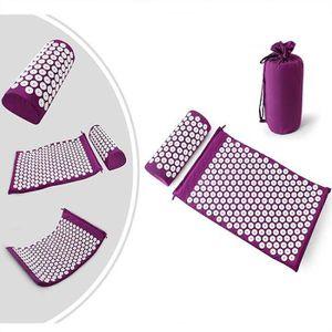 Kit D Acupression Avec Tapis Et Coussin Set De Massage Violet