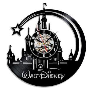 HORLOGE - PENDULE Walt Disney vinyle beau mur horloge idée de cadeau