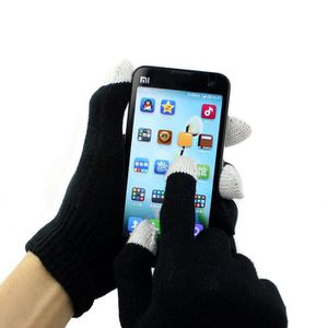Paire de Gants noir extensible tactile pour smartphone iphone,samsung tablette