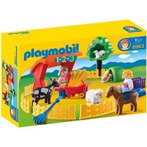 UNIVERS MINIATURE PLAYMOBIL 1.2.3. - 6963 - Parc animalier