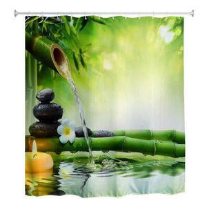 RIDEAU DE DOUCHE 180 x 180cm le rideau de douche à l'eau de zen 3d