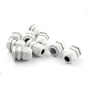 10 x PG13,5 Connecteur etanche des presse-etoupe en plastique blanc R SODIAL