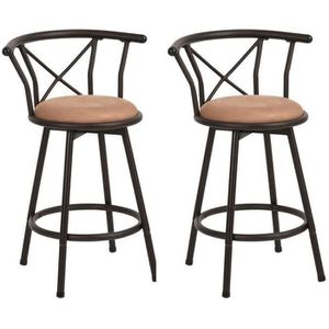 TABOURET DE BAR Lot de 2 Tabouret de Bar Hauteur d'assise 63cm Piv