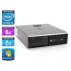 UNITÉ CENTRALE  HP Elite 8200 SFF - Intel Core i3 - 8Go - 2To