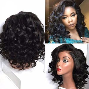PERRUQUE - POSTICHE  150% Sans colle Lace front Perruques de Cheveux H