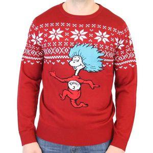 SWEATSHIRT Sweatshirt U391X Dr. Seuss Men Thing 2 est laid ap