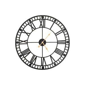 HORLOGE - PENDULE Horloge murale vintage avec mouvement à quartz Mét