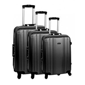 SET DE VALISES Set de 3 valises 4 roues original robust II noir