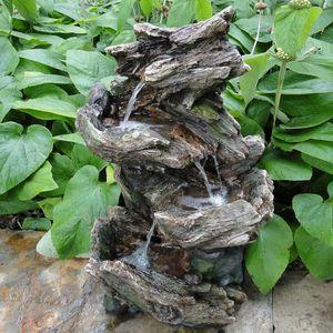 FONTAINE DE JARDIN Fontaine de jardin mini cascade décorative éclaira