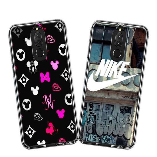 2 X Coque Huawei Mate 10 Lite, Disney et Nike Doux Souple TPU Silicone Housse Étui Pour Huawei Mate 10 Lite