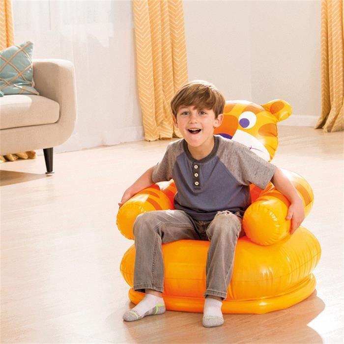 Cartoon Creative enfants canapé gonflable maison jaune animal Seat_HDG10570
