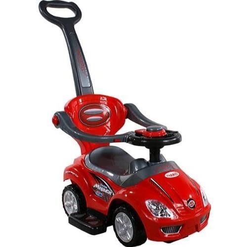 ARTI Baby Car - Ride-on - Jouet d'activité 381 Mega Car Deluxe Rouge avec poignée pour Les Parents