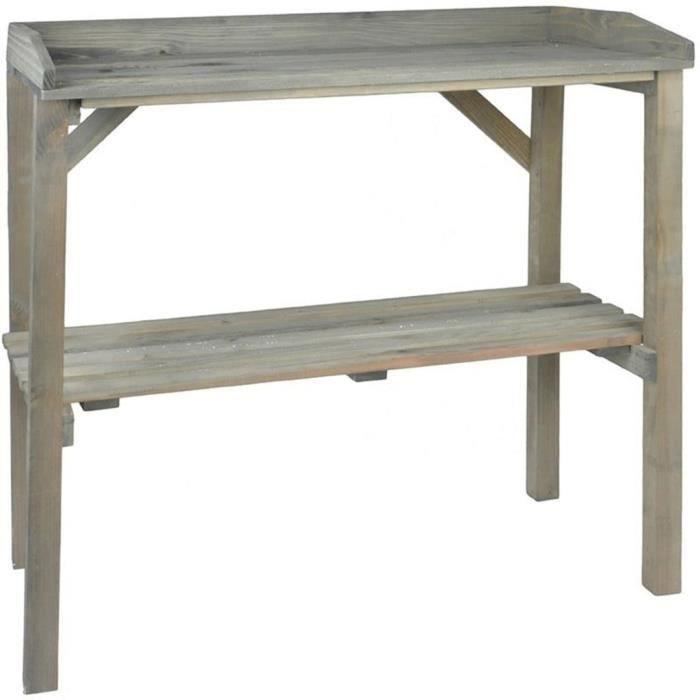 Esschert Design Banc de travail de jardin78,2 x 38 x 82,2 cm (L x l x H)- Tables de rempotage NG75