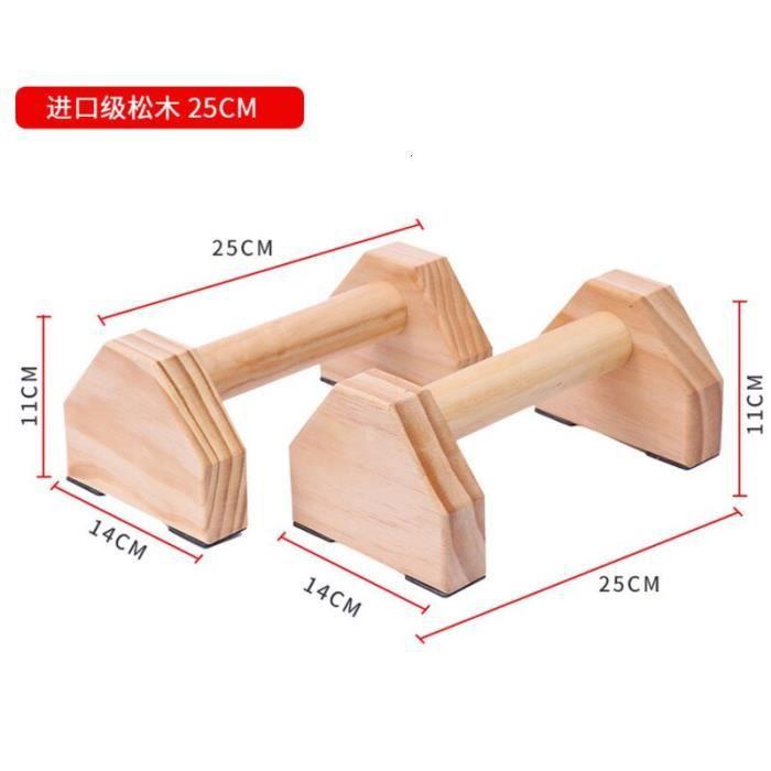 25cm en bois Calisthenics Handstand gymnastique exercice entraînement barre parallèle 1 paire Fi - Modèle: Vert clair -