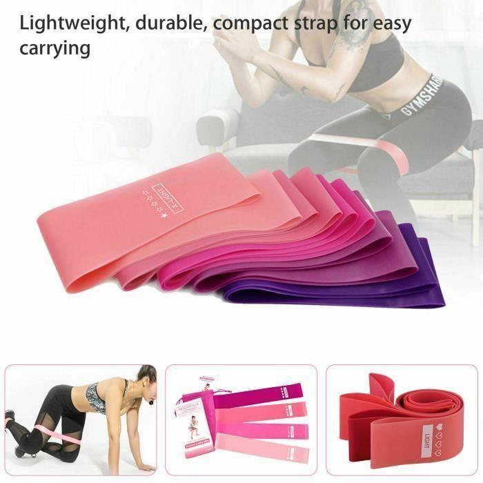 TTCZ Elastique Bandes de Résistance pour Traction, Bande Latex de Yoga, Bande d'entraînement,pour Musculation 600 * 50 * 0,5 mm rose