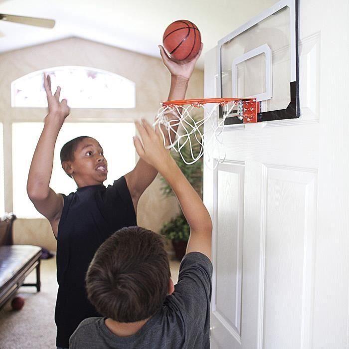 Mini cerceau de basket-ball avec boule de 18 pouces x12 pouces panneau incassable