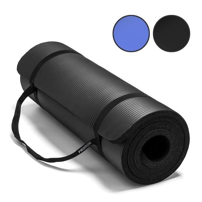 PROIRON tapis de yoga-Extra épais High Density NBR Exercise Yoga Mat pour Pilates, Fitness et Workout avec sangle de transport -1