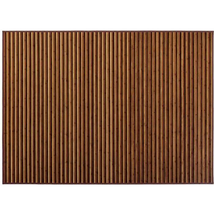 Tapis en bambou brun ray&#2013265923