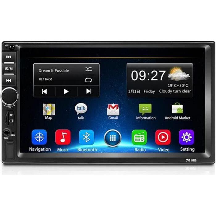 2 Din autoradio GPS Lecteur multimédia Android Universel Auto stéréo 2Din vidéo Lecteur MP5 Autoradio GPS WiFi Bluetooth FM(Col 310