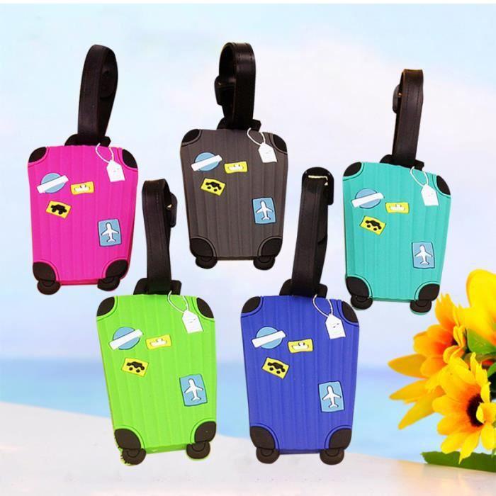 5 pièces nouvelle valise dessin animé étiquettes à bagages conception étiquette d'identification VALISE OU BAGAGE VENDU SEUL