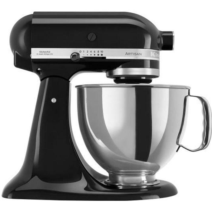 KitchenAid Artisan 5KSM175PSEOB Robot pâtissier 300 Watt noir onyx