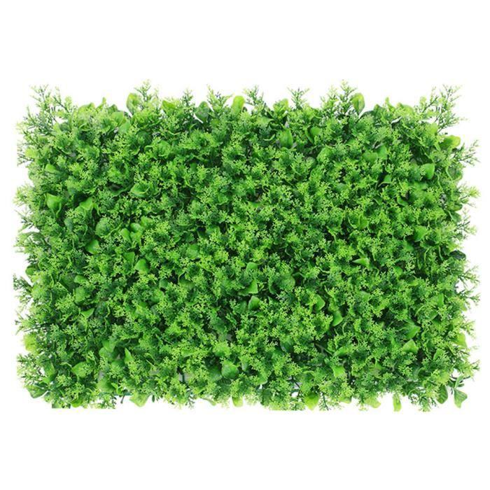 Plante artificielle Panneau de couverture artificielle Faux mur Ivy clôture pelouse artificielle herbe écran vert