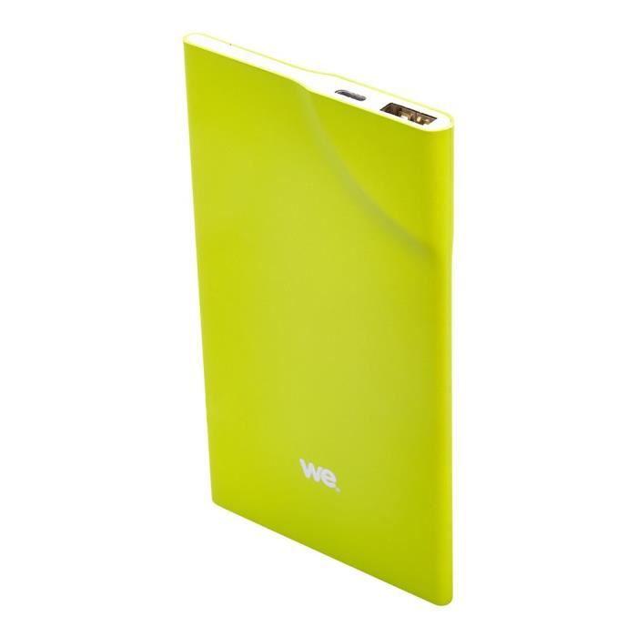 WE Batterie externe 3200mAh 1 port USB 1A - Bouton tactile - Vert