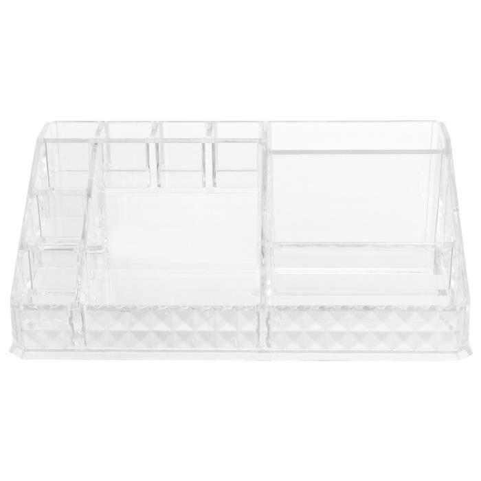 1 Pc Durable Pratique Transparent Boîte De Rangement Maquillage Portable Cosmétiques Porte-Rouge À Lèvres pour Dame COFFRE FORT