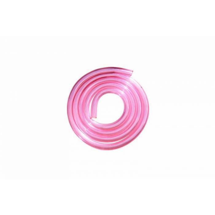 DURITE ADMISSION Durite essence PU 5x9 Transparent Rose 1 m - Replay