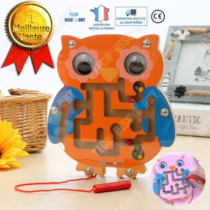 TD® labyrinthe jeu de société junior DVD livre magnétique magique chat bille 3D bille bébé bois stylo puzzle cadeau enfants hibou
