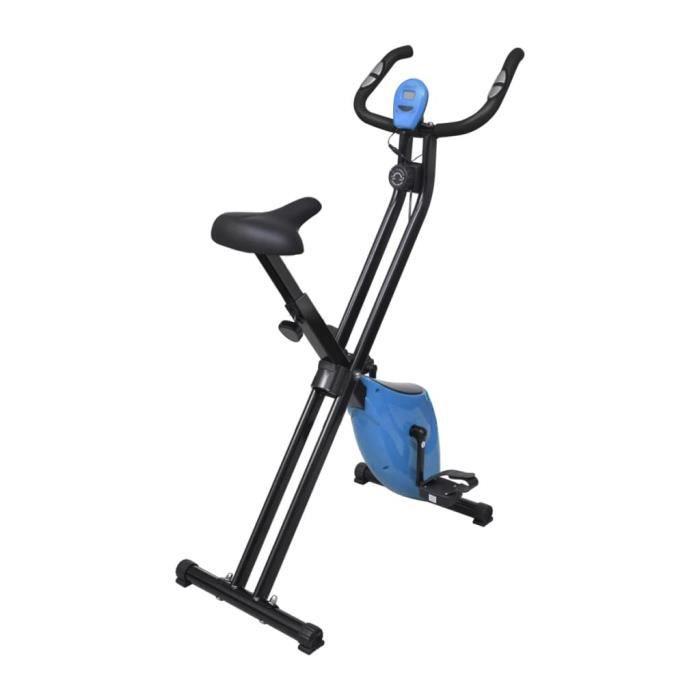 Vélo d'appartement pliable Magnétique Xbike 2,5 kg Noir Bleu