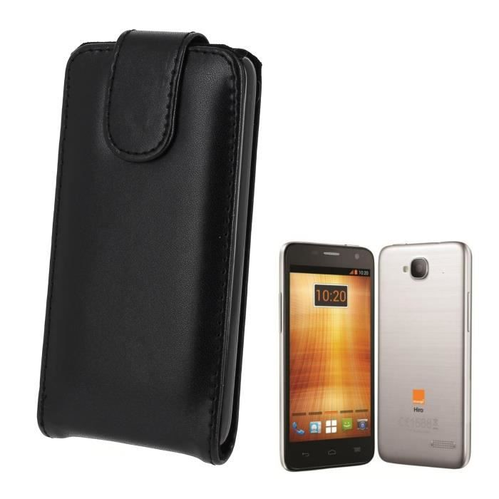 Pour alcatel one touch idol mini housse aspect cuir noir for Housse alcatel one touch
