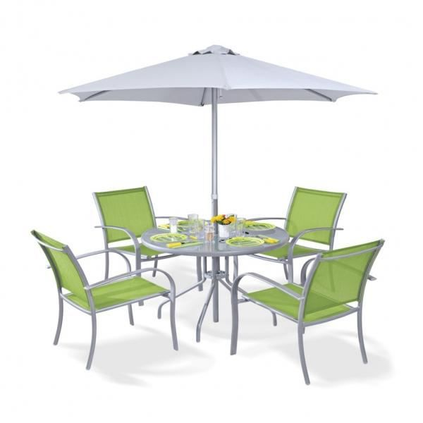 Ensemble terrasse table chaises et parasol achat - Ensemble chaise et table ...