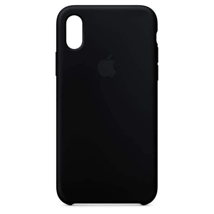 Coque en silicone pour iPhone X - Noir