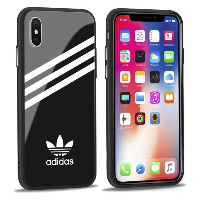 coque iphone x adidas rose