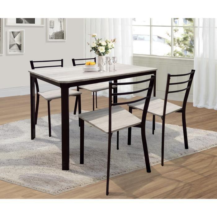 TABLE À MANGER COMPLÈTE PRICE FACTORY - Table de cuisine et salle à manger