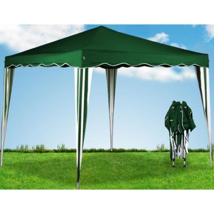 TONNELLE - BARNUM Tente pliante tonnelle pavillon pliable 3x3m vert